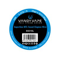 Vandy Vape Traat Superfine MTL Fused Clapton SS316L